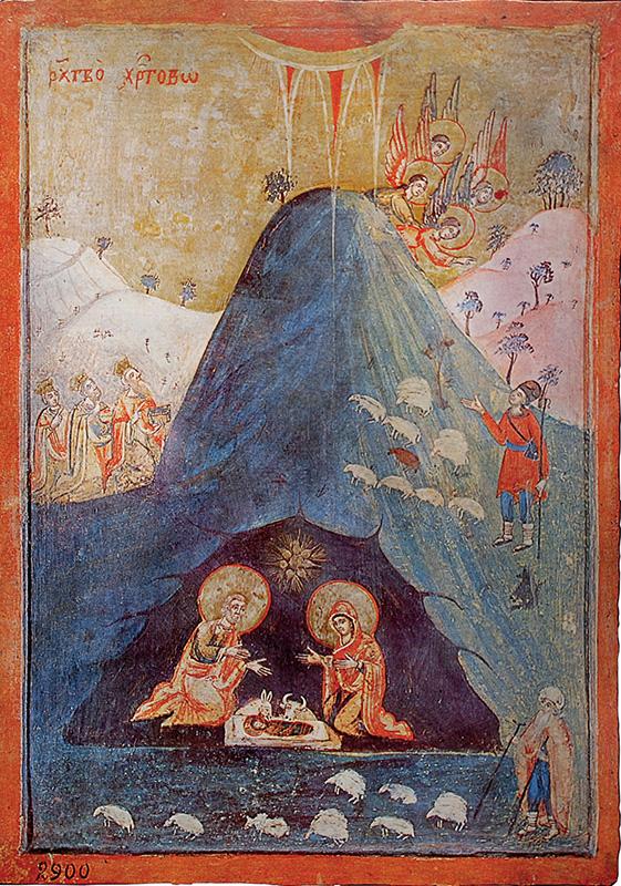 Bolgár ikonfestő: Jézus születése -  XVIII. század második fele, XIX. század eleje, Régészeti Múzeum, Szófia
