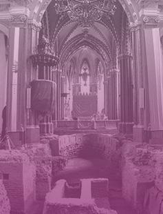 Régészeti feltárás a belvárosi templomban