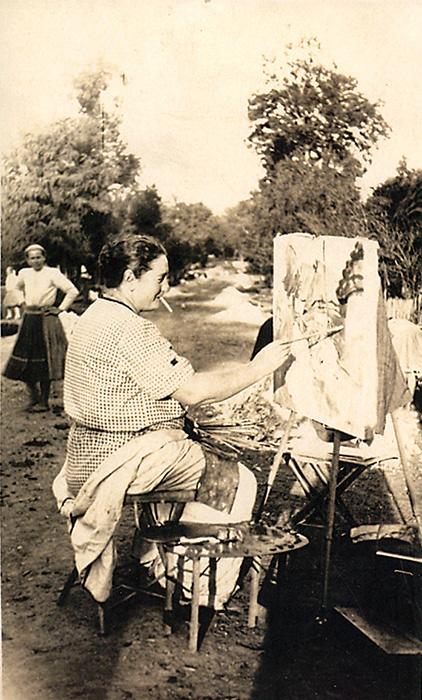 """A vágy, amely a művészethez vitt, tulajdonképpen egy """"mentési"""" vágy volt. A fák aranyát, a tulipán vonalait, az érzések testét akartam megmenteni a haláltól, az elmúlástól."""" (Naplójegyzet, 1920.)"""
