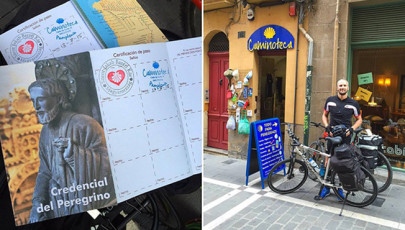 Kerékpárral az El Caminón