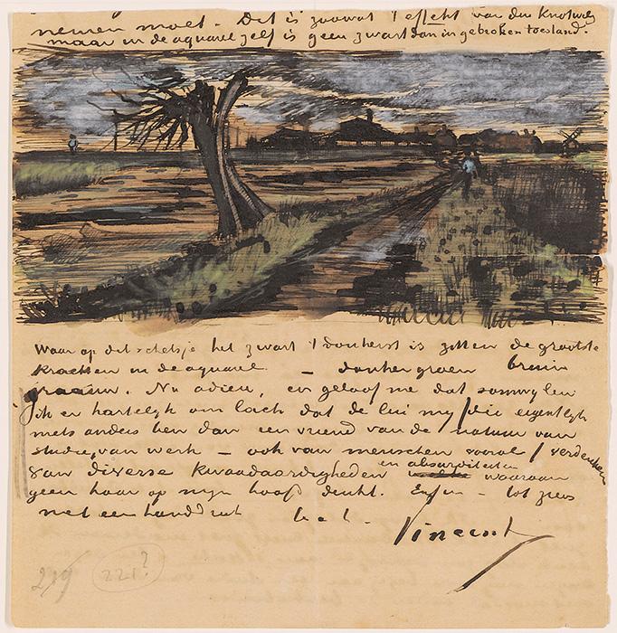 Levél 1882-ből, Van Gogh Museum, Amszterdam