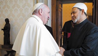 A szentatya fogadta Ahmad et-Tajjeb főimámot