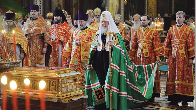 Szent Miklós ereklyéje Oroszországba érkezett
