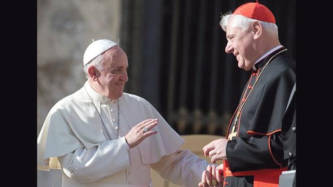 Müller bíboros:Nem volt nézeteltérés közöttünk a pápával
