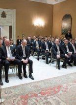 Ferenc pápa fogadta a Borussia Mönchengladbach labdarúgóklub csapatát