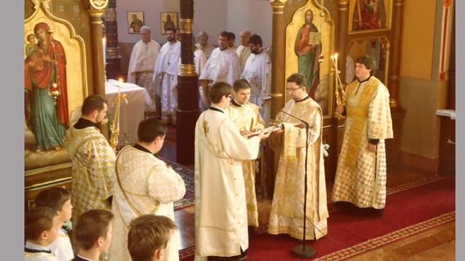 Papszentelés a miskolci görögkatolikus székesegyházban