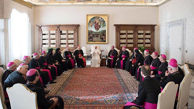 Ad limina látogatáson a magyar püspökök a Szentatyánál
