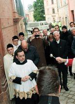 Megáldották a magyar segítséggel helyreállított templomot a földrengés sújtotta Tolentinóban