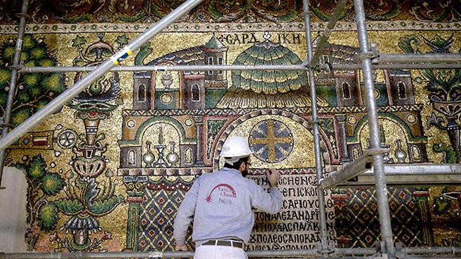 A betlehemi mozaik angyalai