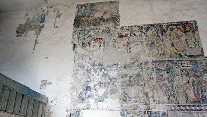 Szent László-falfestményttártak fel az erdélyi Somogyomon