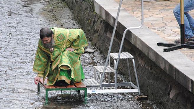 Megszentelték a Szinva-patak vizét Miskolcon