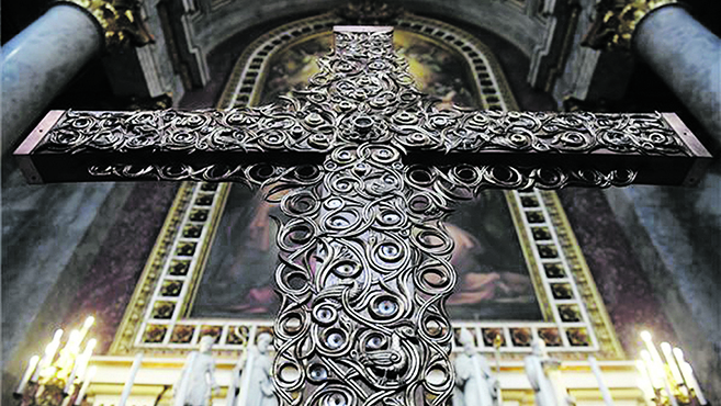 Országjárásra indulaz Eucharisztikus Világkongresszus keresztje
