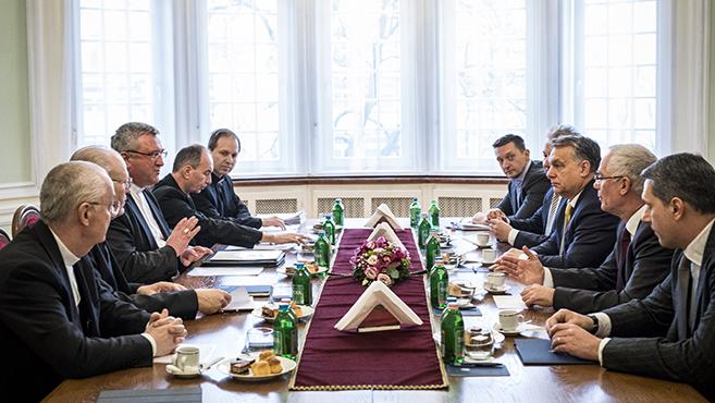 A Katolikus Egyház vezetőivel tárgyalt Orbán Viktor