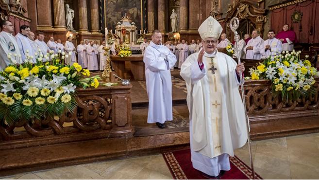 Spányi Antal püspöki jubileumát ünnepelték Székesfehérváron