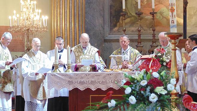 Althann Mihály Frigyes püspök tisztelete Vácott