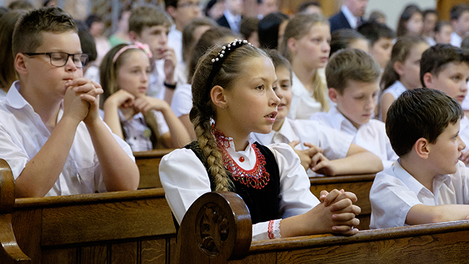 A kispesti Reménység Katolikus Általános Iskola jubileumán
