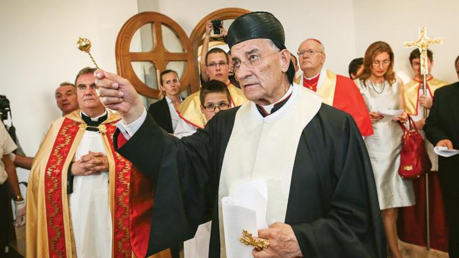 A libanoni pátriárka megáldotta a Szent Charbel-kápolnát