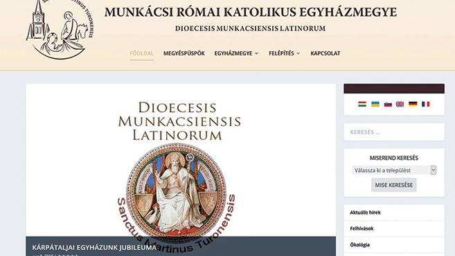 Megújult a munkácsi egyházmegye honlapja