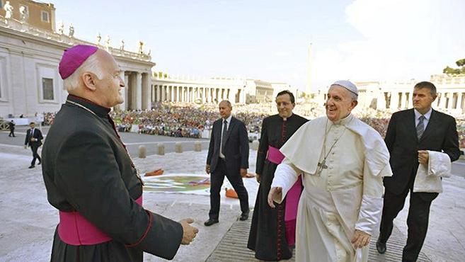 Német László püspök köszöntötte a Szentatyáta nemzetközi ministránstalálkozón