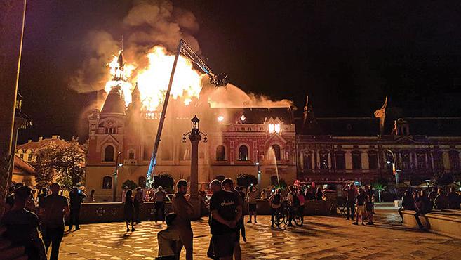 Leégett a nagyváradi görögkatolikus püspöki palota