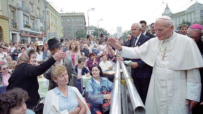 Szent II. János Pálra emlékeztek Debrecenben Debrecenben