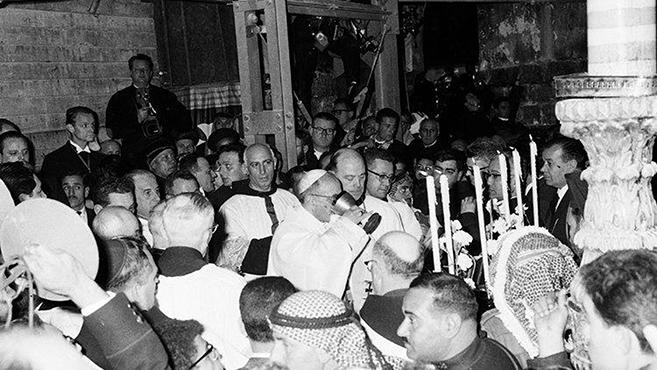 VI. Pál pápa zarándoklata a Szentföldre