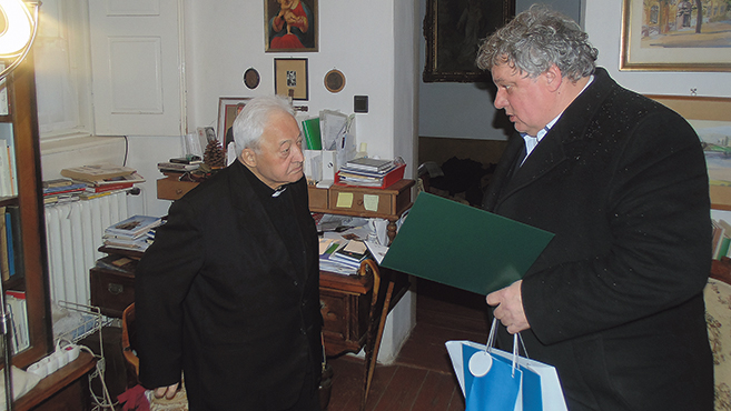 Pálos Frigyest köszöntötték 95. születésnapján