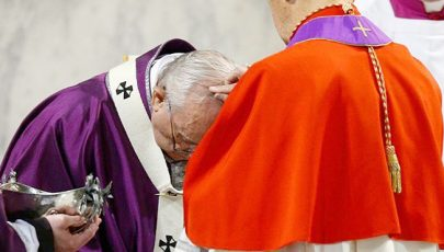 Ferenc pápa hamvazószerdán: