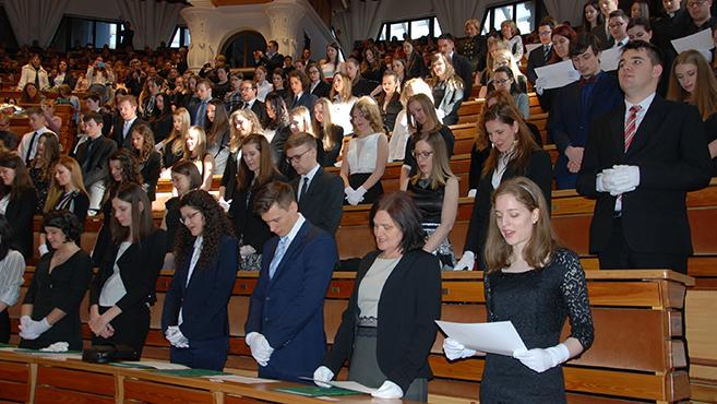 Diplomaosztó ünnepség a Pázmányon