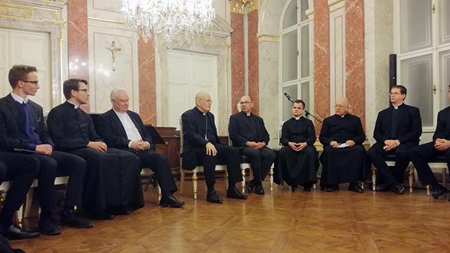 Erdő Péter bíboros a Központi Szemináriumba látogatott