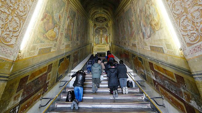 Megérinthetjük a lépcsőfokokat, amelyeken Jézus járt