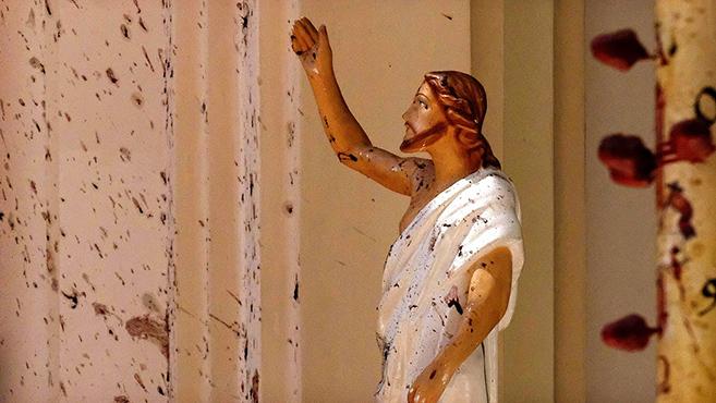 Katolikusok elleni terrortámadás Srí Lankán
