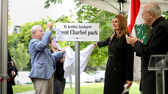 Szent Charbel nevét kapta egy park Gazdagréten