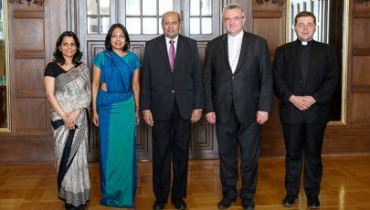 Srí Lanka külügyminiszterével találkozott a Magyar Katolikus Püspöki Konferencia elnöke