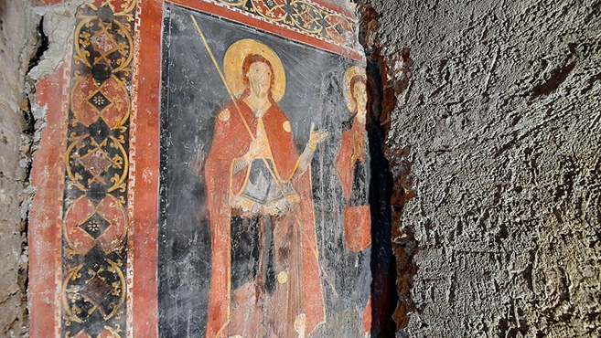 Csodálatos freskót találtak a római Santi Bonifacio e Alessio-templomban