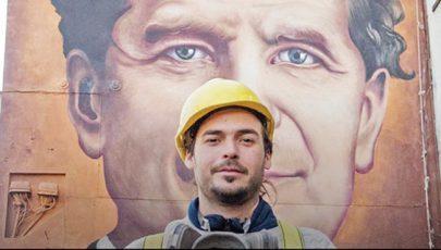 Hatalmas graffiti készült Uruguayban Don Boscóról