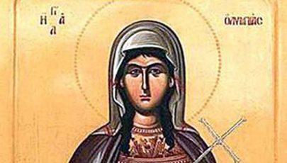 A hét szentje Szent Olümpiász